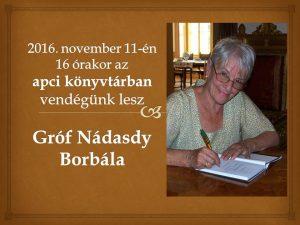 Gróf Nádasdy Borbála