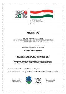 MEGHÍVÓ-2016 okt 23